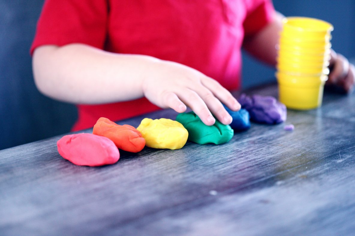 Teach Children with playdough