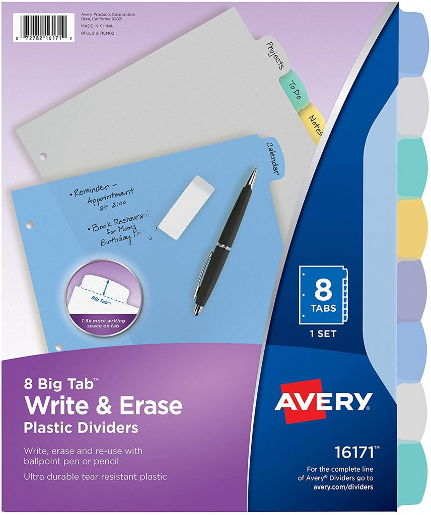Back-to-School List of Supplies